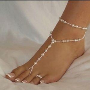 Jewelry - NEW Boho Faux Pearl Foot Jewelry